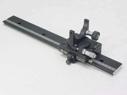 Oriel Optical Bench Alignment Rail Stage wMicrometers & Mirror Mount
