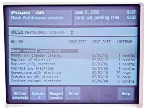 Radiometer ABL520 Blood Gas Analyzer w/Accessories (ABL 520)