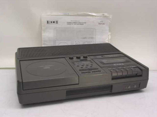 Eiki 7070A  Stereo Compact Disc Player Cassette Tape Recorder (Needs Repair)