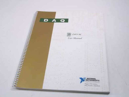 National Instruments PC-DI0-96  DAQ User Manual