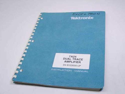 Tektronix 7A24 Dual Trace Amplifier  Instruction Manual