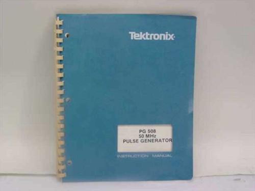 Tektronix 070-2044-01  PG 508 50 MHz Pulse Generator Instruction Manual