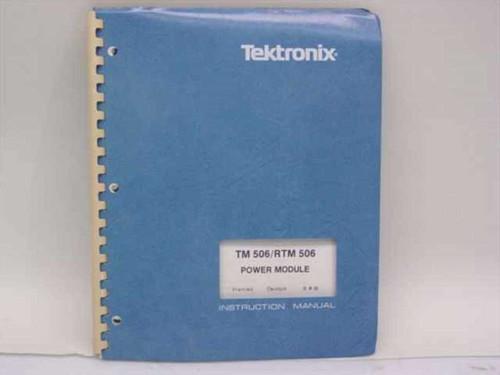 Tektronix 070-1786-02  TM 506/ RTM 506 Power Module Manual