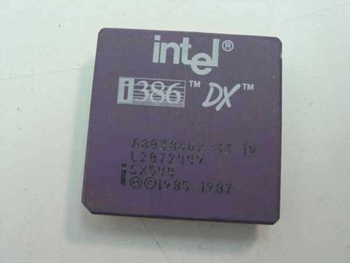 Intel i386 386 DX 33Mhz Processor A80386DX-33 (SX544)