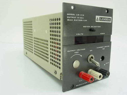 Lambda Electronics Regulated Power Supply 0-40 V 1.0 Amps LQ-412
