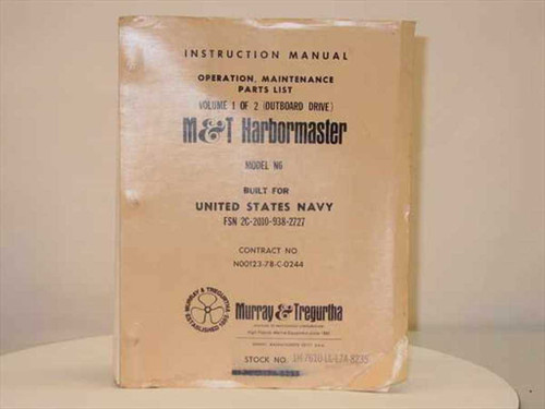 M&T Harbormaster Instruction Manual & Parts List Model N6