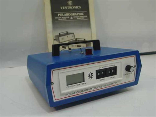 Ventronics 5570  Polarographic Oxygen Monitor - No O2 sensor