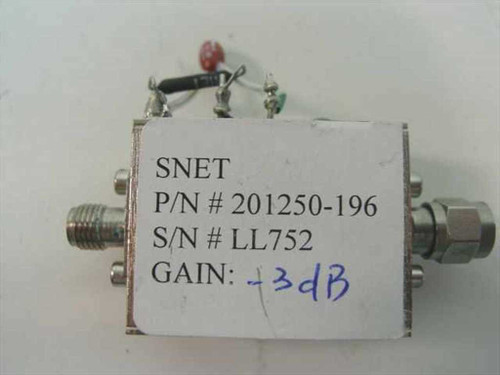 SNET 201250-196   Voltage controlled, diode based, amplitude limiter