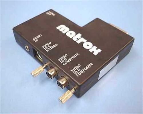 Matrox S-Video  Matrox Audio Video Input/Output Converter