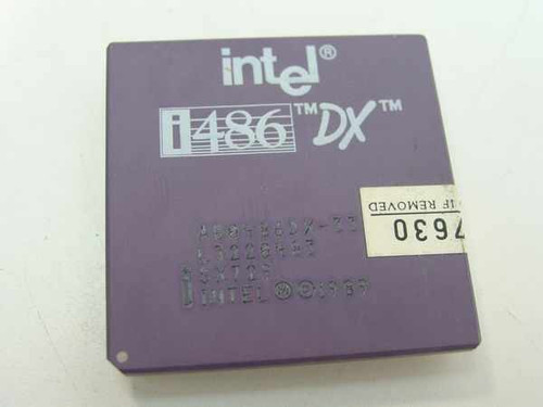 Intel SX729  486DX/33 CPU A80486DX-33