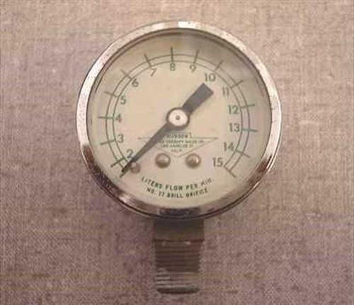 """Hudson 15L  1 3/4"""" Gas PSI Gauge"""