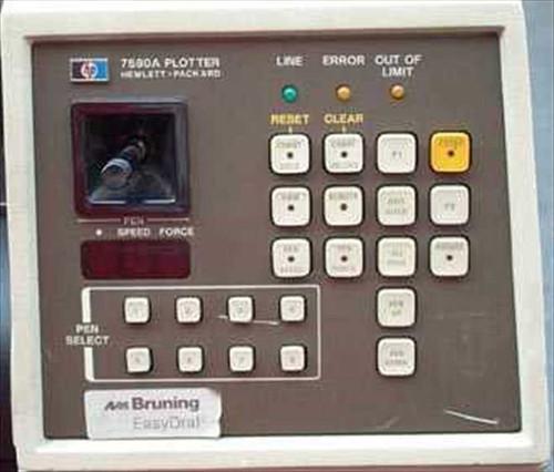 """HP 7580A  24"""" 8 Pen Commercial Plotter-Parts Unit"""