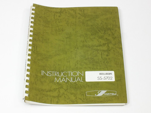 Iwatsu Electric Co. Ltd SS-5702  Instruction Manual