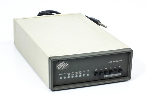 IBM 5842 External 2400 BPS Modem - VINTAGE - Powers On