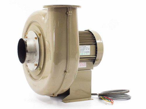 Showa Denki EC-100T-R313  565 CFM Electric Blower 3450 RPM 220VAC 3-Phase NO Exhaust Mount