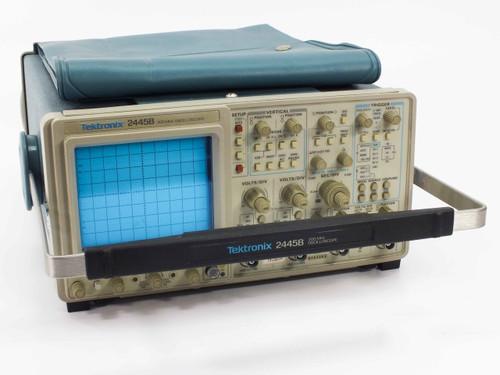 Tektronix 2445B  200 MHz Digital Oscilloscope 4 Channel Input -AS IS- Missing Fuse Cap
