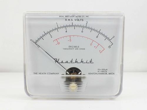 Ideal Precision Meter Co White  Heathkit R.M.S. Volts/ Decibels Panel