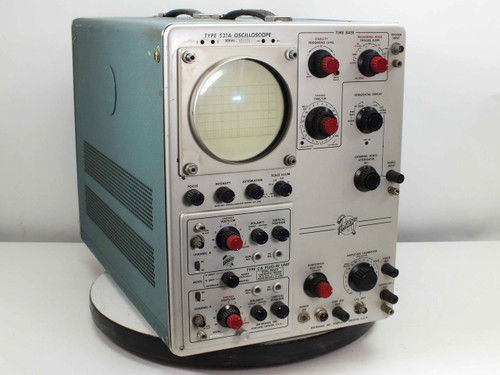 Tektronix  531A  Two-Channel A/B Analog Oscilloscope with Type CA Dual-Trace Plug-In