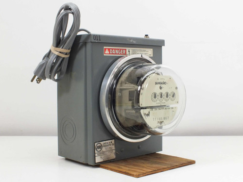 Sangamo CL100 J5S Single-Phase Watthour Meter with Circle AW Enclosure