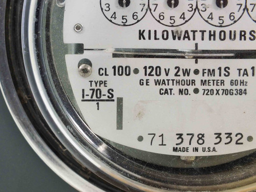 Ge Watthour Meter : Ge i s single phase watthour meter with circle aw r