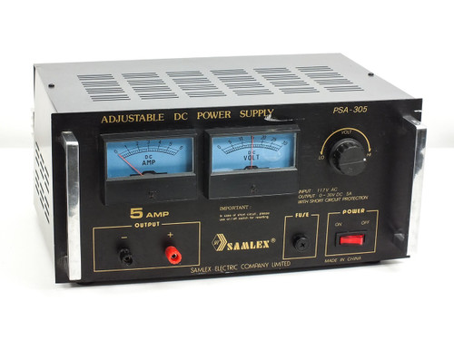 Samlex Electric PSA-305  Adjustable DC Power Supply 0 - 30 VDC 0 - 5 Amps
