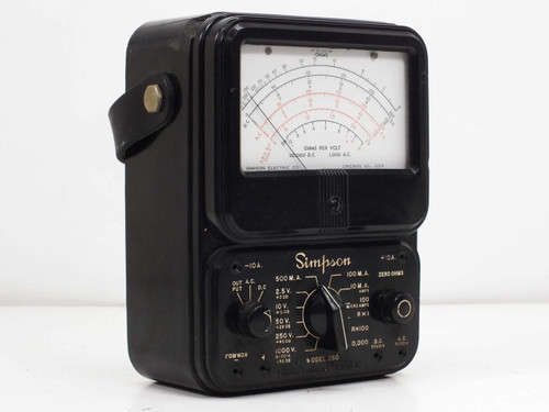 Simpson Analog Meter : Simpson model series analog vom multimeter vintage