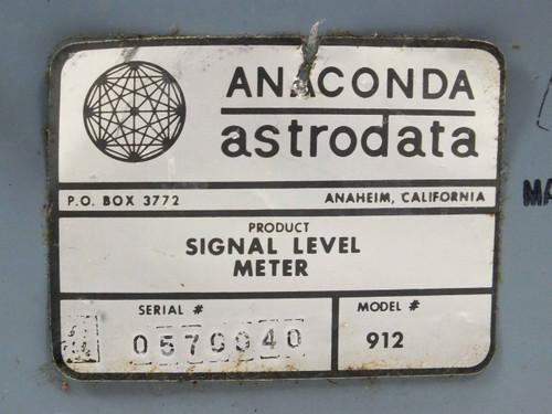 Anaconda Astrodata 912  Signal Level Meter with Soft Case