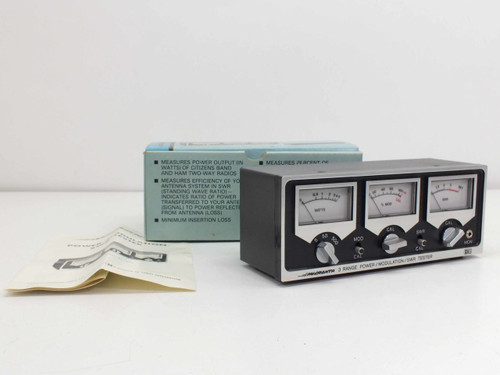 Micronta 21-522  3-Meter CB Power / Modulation / SWR Tester with Box & Manual
