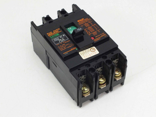 Fuji Electric EA103B  75A 220VAC 25KA 3-Pole Circuit Breaker