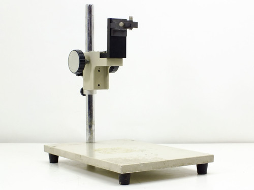 "Microscope Stand  with Modified Focus Block and 11.5"" Vertical Mounting Pole"