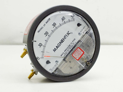 "Dwyer 2000-0 C  15 PSIG Magnehelic Pressure Gauge 0-.5"""