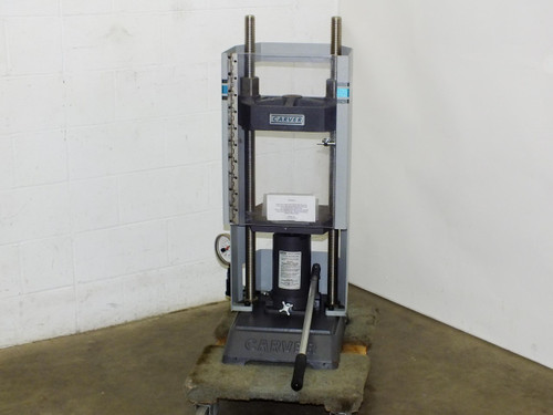 Carver M Series  3853 Lab Series 25 Ton Floor Standing Hydraulic Press with Shield