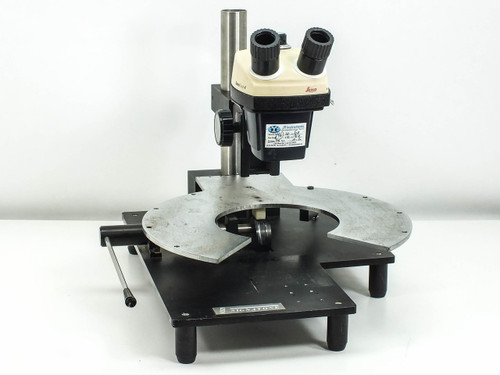 Leica StereoZoom 4  Binocular Microscope Head with Focus Block and Signatone Stand