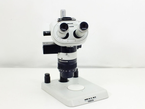 Wild Heerbrugg M400  Microscope with Trinocular Head, 1 5 Objective and Stand