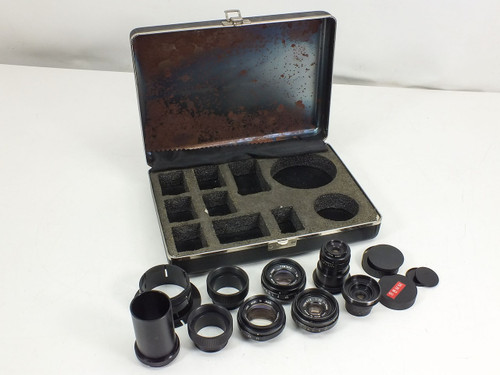 Tominon Macro Lens Kit  17, 35, 50, 75, 105 and 135 mm with Adapters in Polaroid Case
