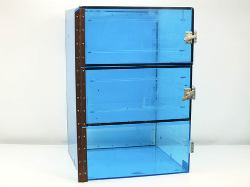 Terra Universal 1656-00-1  Nitrogen Desiccator Cabinet Dry Box w/ 3 Compartments