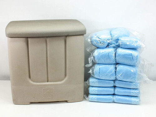 Step 2 19x19x14  Plastic Storage Container with 280 Pair of Cleanroom Shoe Covers