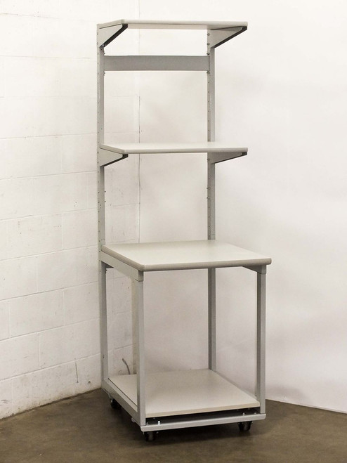 """Global Computer 25"""" W x 32"""" D x 78"""" H  Four Tier Mobile Computer Server Bench Table Station"""