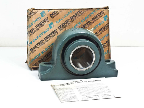 "Dodge P2B-S2-207R  2-7/16"" S-2000 Pillow Block, Non-Expansion Bearing"