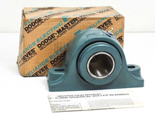 "Dodge P2B-S2-111R  1-11/16"" S-2000 Pillow Block Spherical Non Expansion Bearing"