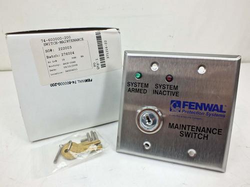 Fenwal 74-600000-200  Maintenance Switch