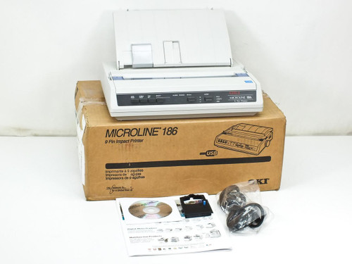 Okidata D22300A  Microline 186 ML186 Dot Matrix Printer Serial Interface