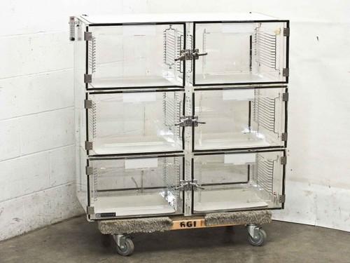 Terra Universal 1976-00  6 Door Nitrogen Desiccator Cabinet Dry Box