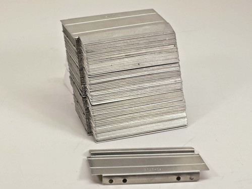 Lista D100-09  Lot of 35 Aluminum Cabinet Drawer Dividers