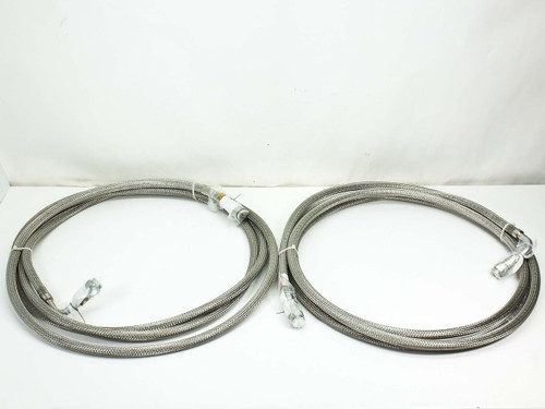 "CTI 8043074  SS Pair 3/4"" Cryopump Vacuum Helium Compressor Lines 20 Foot Elbow"