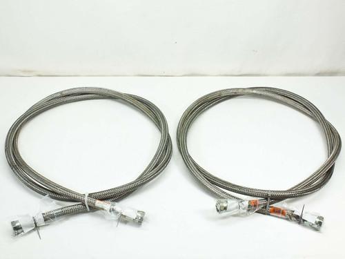"CTI 8081271  Pair SS 3/4"" Cryopump Vacuum Helium Compressor Lines 10 Foot"