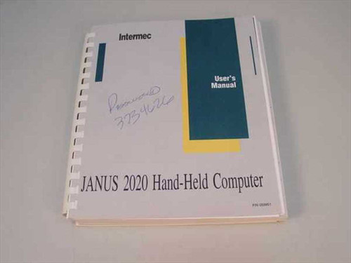 Intermec JANUS 2020 Wireless Handheld Computer Manual 059951