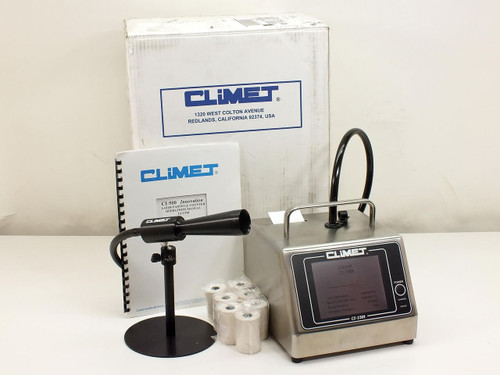 Climet CI-150T  Particle Counter w/ Sample Probe Stand