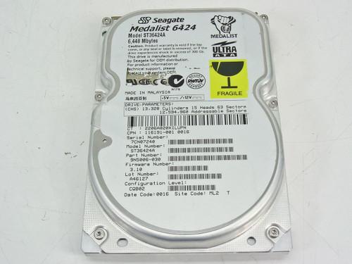 "Seagate ST36424A  Medalist 6424 6Gb IDE 5400RPM 3.5"" Internal Hard Drive"