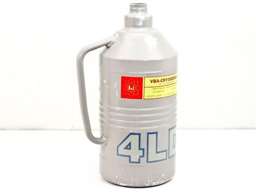 Union Carbide Cryogenic Equipment RO33-9C28  4-Liter Dewar Flask 4 LD No Lid, w/ Handle, Liquid Nitrogen, D10-MH@265